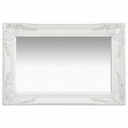 stradeXL Lustro ścienne w stylu barokowym, 60x40 cm, białe
