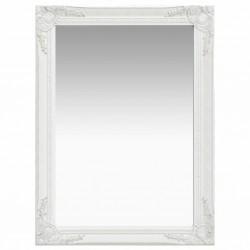 stradeXL Lustro ścienne w stylu barokowym, 60x80 cm, białe