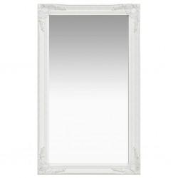 stradeXL Lustro ścienne w stylu barokowym, 60x100 cm, białe