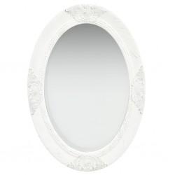 stradeXL Lustro ścienne w stylu barokowym, 50x70 cm, białe