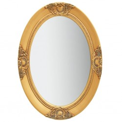 stradeXL Wall Mirror Baroque Style 50x70 cm Gold