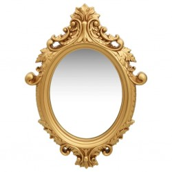stradeXL Wall Mirror Castle Style 56x76 cm Gold