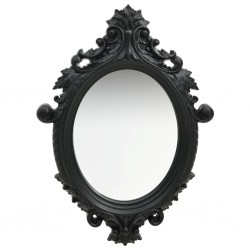stradeXL Wall Mirror Castle Style 56x76 cm Black