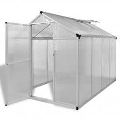stradeXL Reinforced Aluminium Greenhouse with Base Frame 4,6 m²