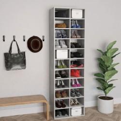 stradeXL Szafka na buty, kolor betonowy szary, 54x34x183 cm