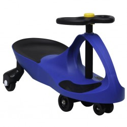 stradeXL Ride on Toy Wiggle Car Swing Car with Horn Blue