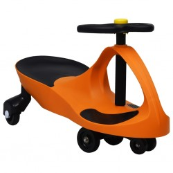 stradeXL Ride on Toy Wiggle Car Swing Car with Horn Orange
