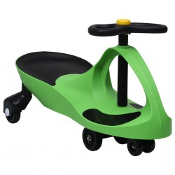 stradeXL Ride on Toy Wiggle Car Swing Car with Horn Green