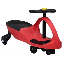 stradeXL Ride on Toy Wiggle Car Swing Car with Horn Red