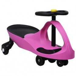 stradeXL Jeździk balansowy dla dzieci, z klaksonem, różowy