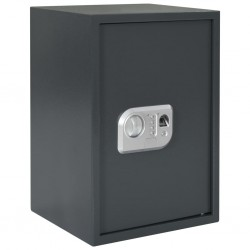 stradeXL Digital Safe with Fingerprint Dark Grey 35x31x50 cm