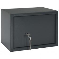 stradeXL Mechanical Safe Dark Grey 35x25x25 cm Steel