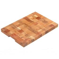 stradeXL Deska do krojenia, 50x34x3,8 cm, lite drewno akacjowe
