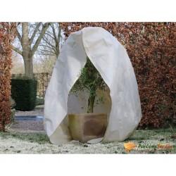 Nature Kaptur ochronny na rośliny z zamkiem, 70 g/m², beż, 2x1,5x1,5 m