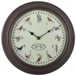 Esschert Design Clock with Birdsounds