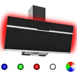 stradeXL Okap kuchenny LED RGB, 90 cm, stal nierdzewna i hartowane szkło
