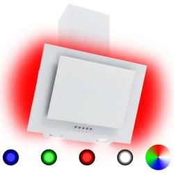 stradeXL Okap kuchenny LED RGB, 60 cm, stal nierdzewna i hartowane szkło