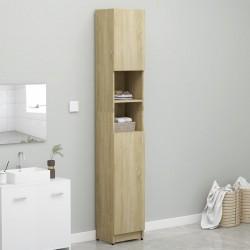 stradeXL Bathroom Cabinet Sonoma Oak 32x25.5x190 cm Chipboard