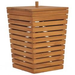 stradeXL Kosz na pranie, 30x30x45 cm, lite drewno tekowe