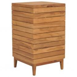 stradeXL Kosz na pranie, 40x40x70 cm, lite drewno tekowe