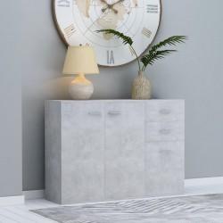 stradeXL Komoda, szarość betonu, 105 x 30 x 75 cm, płyta wiórowa
