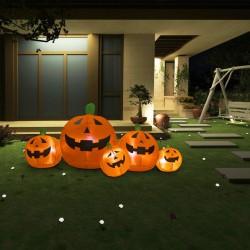stradeXL Rodzina nadmuchiwanych dyń na Halloween, z LED, 1,8 m