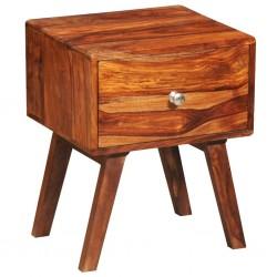 stradeXL Szafka nocna z szufladą, lite drewno sheesham, wys. 55 cm