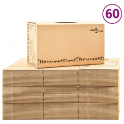 stradeXL Moving Boxes Carton XXL 60 pcs 60x33x34 cm