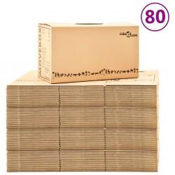 stradeXL Moving Boxes Carton XXL 80 pcs 60x33x34 cm