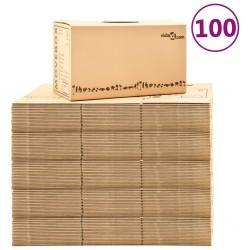 stradeXL Moving Boxes Carton XXL 100 pcs 60x33x34 cm