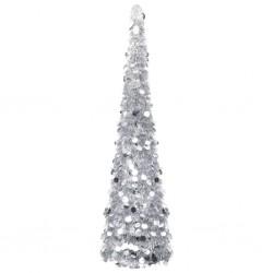 stradeXL Pop-up Artificial Christmas Tree Silver 150 cm PET