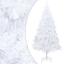 stradeXL Sztuczna choinka o grubych gałązkach, biała, 240 cm, PVC