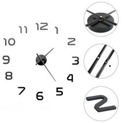 stradeXL Zegar ścienny 3D, nowoczesny design, 100 cm, XXL, czarny