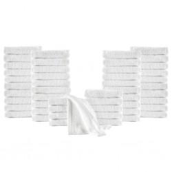 stradeXL Ręczniki hotelowe, 50 szt., bawełna, 350 g/m², 30x50 cm, białe