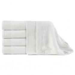 stradeXL Ręczniki kąpielowe, 5 szt, bawełna, 450 g/m², 100x150 cm, białe