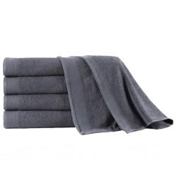 stradeXL Ręczniki kąpielowe, 5 szt, bawełna 450 g/m², 100x150 cm