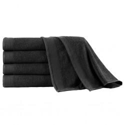 stradeXL Ręczniki kąpielowe, 5 szt, bawełna 450 g/m², 100x150 cm, czarne