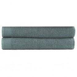 stradeXL Ręczniki kąpielowe, 2 szt, bawełna 450 g/m², 100x150 cm, zieleń