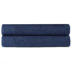 stradeXL Ręczniki prysznicowe, 2 szt, bawełna 450 g/m², 70x140cm, granat