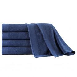 stradeXL Ręczniki kąpielowe, 5 szt, bawełna 450 g/m², 100x150 cm, granat