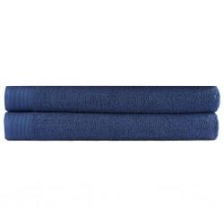 stradeXL Sauna Towel Set 2 pcs Cotton 450 gsm 80x200 cm Navy