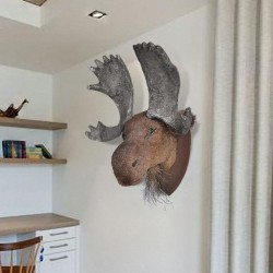 Moose Head Wall Mounted Decoration Natural Looking