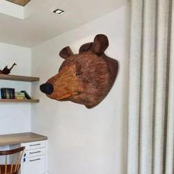 Bear Head Wall Mounted Decoration Natural Looking