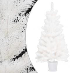 stradeXL Sztuczna choinka z realistycznymi igłami, biała, 90 cm