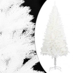 stradeXL Artificial Christmas Tree Lifelike Needles White 240 cm