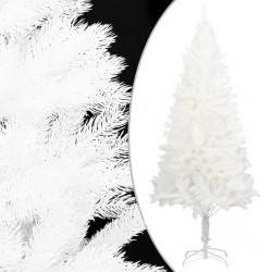 stradeXL Sztuczna choinka z realistycznymi igłami, biała, 240 cm