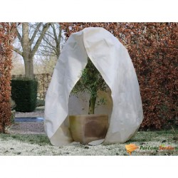 Nature Kaptur ochronny na rośliny z zamkiem, 70 g/m², beżowy, 2x2,5 m