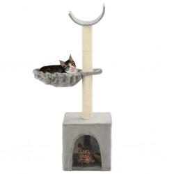 stradeXL Drapak dla kota z sizalowymi słupkami, 105 cm, szary