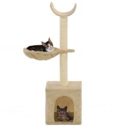 stradeXL Drapak dla kota z sizalowymi słupkami, 105 cm, beżowy