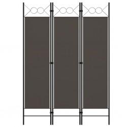 stradeXL Parawan 3-panelowy, antracytowy, 120 x 180 cm